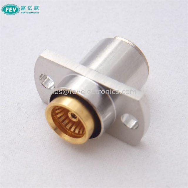 "RF Connector BMA Jack Female Connector 2 Hole Flange Crimp for Semi-Rigid .086"" RG405 Cable"