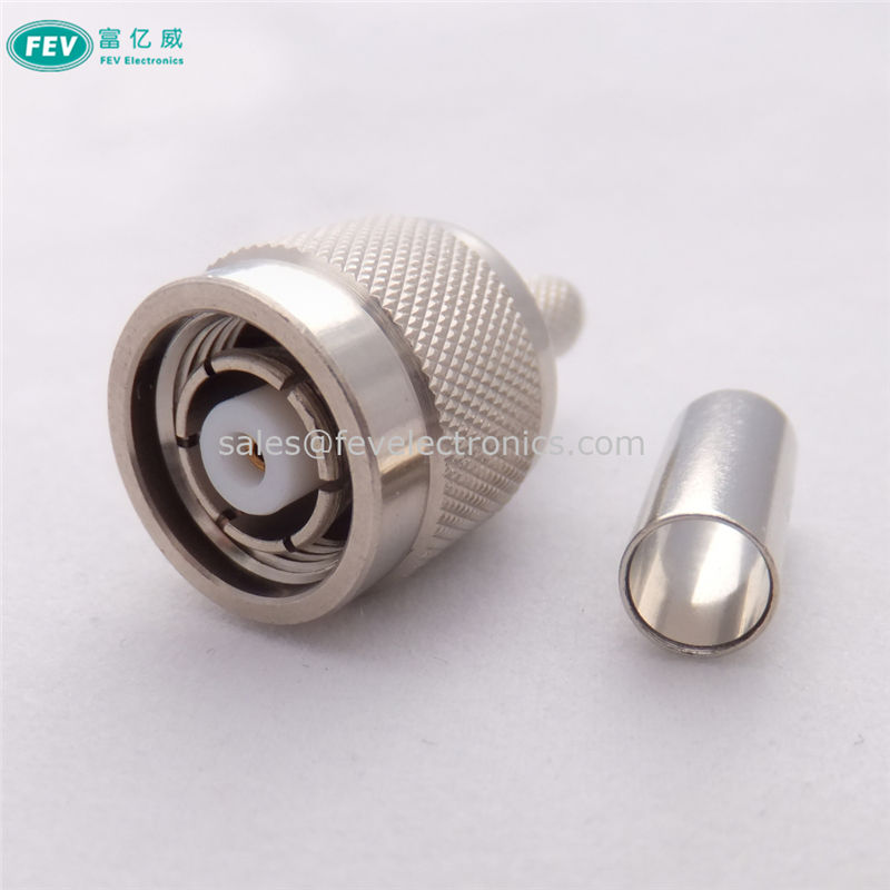 RP-TNC Male Female RF Coax Connector straight crimp for LMR195 LMR200 RG58 Coax Cable