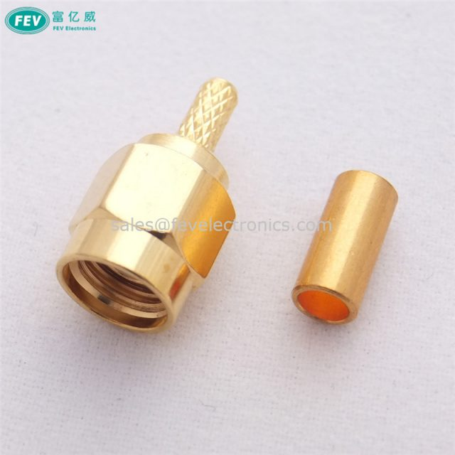 SMA Male Crimp Connector Coaxial Cable for RG174 RG316 RG178 Crimp