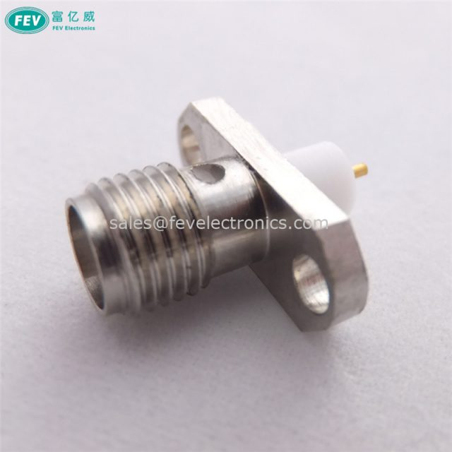 SMA Female connector stainless stell Panel Mount Jack 2 Hole Flange PCB Mount
