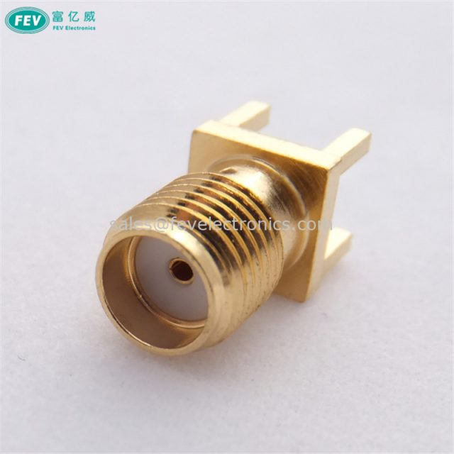 SMA FEMALE 4 HOLES PCB MOUNT 3.9mm CONNECTOR RF COAXIAL CONNECTOR