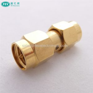 SMA Plug Male To Male Straight Coaxial Connector Adapter