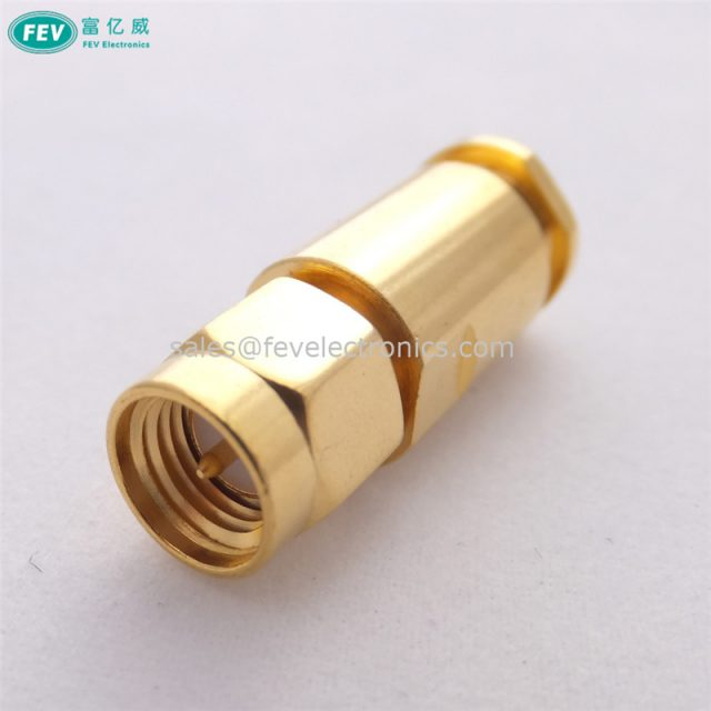 SMA Male Connector assemble type solderless RF Coax Connector