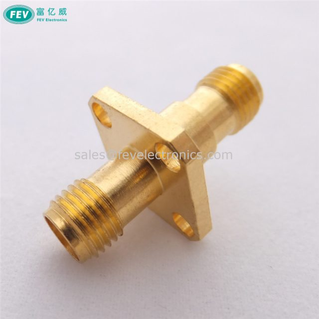 SMA Female to SMA Female adapter With flange plate