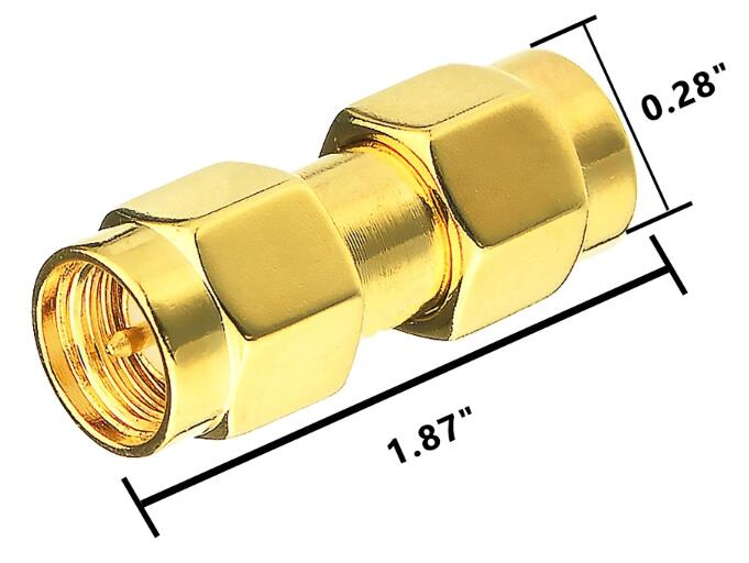 Specification of SMA Male to SMA Male plug adapter