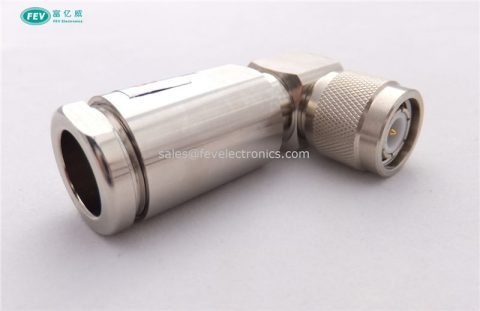 TNC Male Connector right angle 90 degree RF connector for 1/2'' superflex coax cable RG223 cable