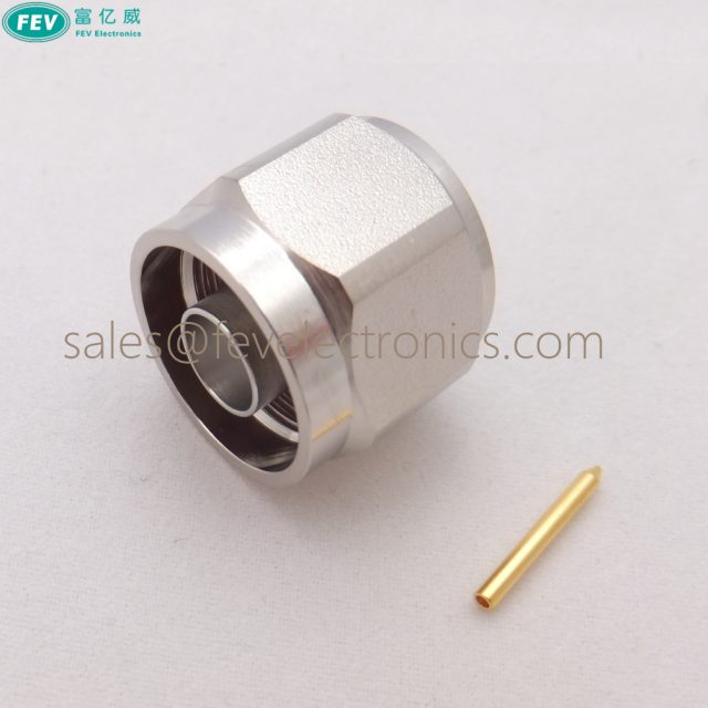 """Solder N Male Plug Straight Connector for Semi rigid .086"""" Cable RG405"""