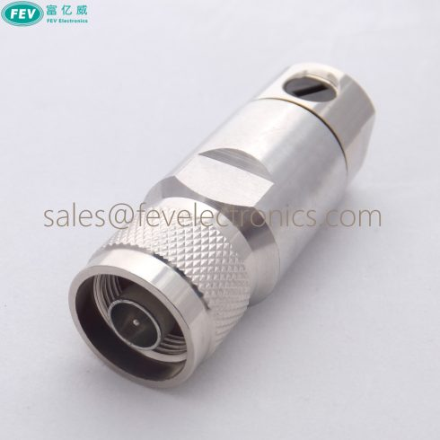 N Male RF Connector Clamp Coax Connector for 1/2 inch 7/8'' super flex coax cable