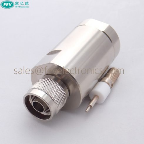 RF N Male Clamp Connector for 7/8'' inch Coax Cable, N Male For 7/8 feed Cable connector