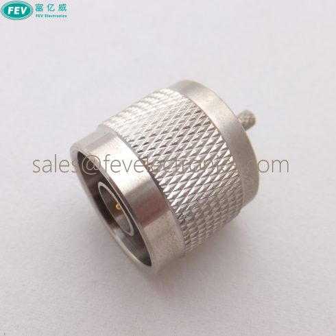 N Male Plug Straight Gold Plated Inner Crimp Connector For RG316 RG174 LMR100 RG178 Cable